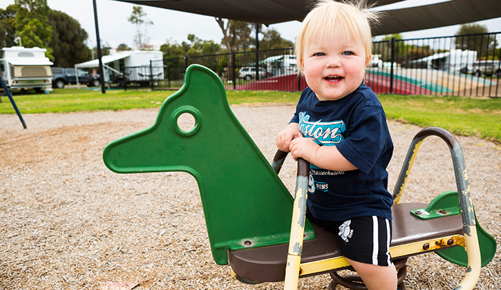 Children on playground in Lakes Entrance