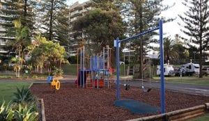 Playground located in the park