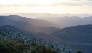 View of Victorian High Country mountains