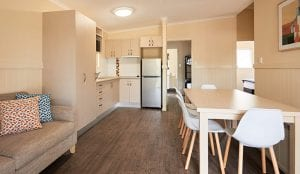Kitchenette and dinning table in cabin