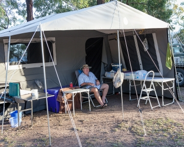 Powered Tent Site - Exterior