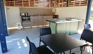 Camp kitchen and BBQ area in Port Campbell