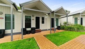 External view of studio accommodation in Port Campbell