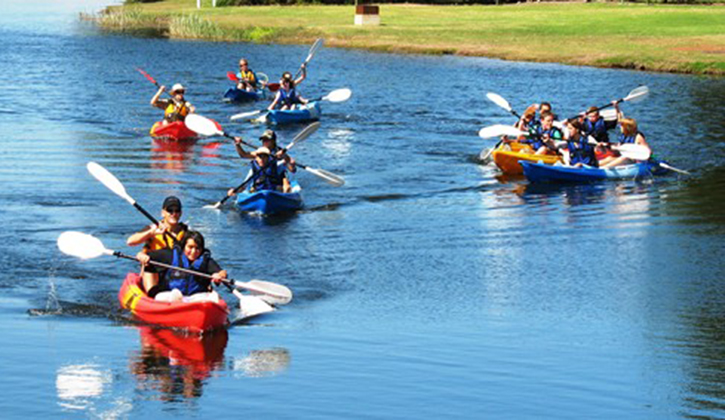 Try the water activities at NRMA Portland Bay Holiday Park, NRMA Parks and Resorts, South West VIC