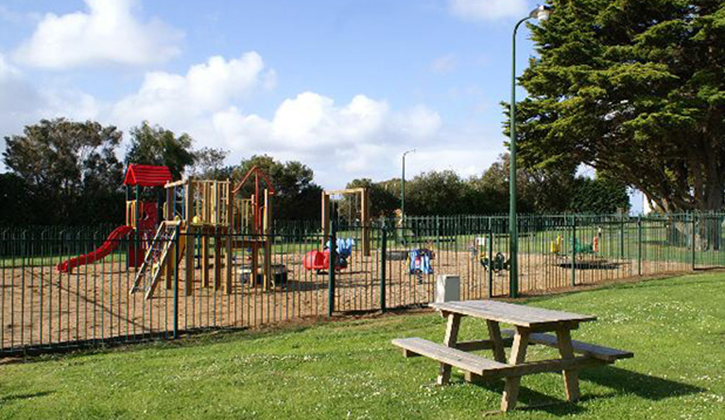 Play in our playground at NRMA Portland Bay Holiday Park, NRMA Parks and Resorts, South West VIC