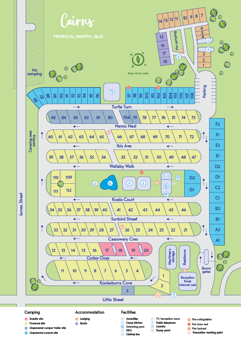 NRMA Cairns Holiday Park map