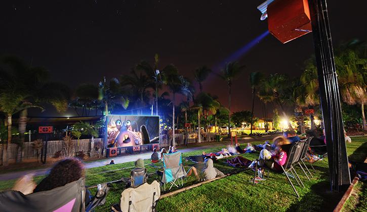 people movie watching in NRMA Capricorn Yeppoon Holiday Park