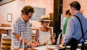 Couple visiting one of the local vineyards in Yarrawonga