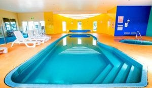 Internal of indoor swimming pool and spa