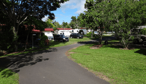 Caravan and camping sites inside Atherton holiday park