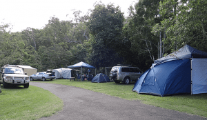 Caravan and camping sites with tents and vehicles in Atherton