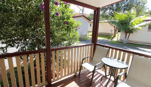 Atherton veranda with table and chairs